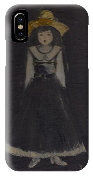 IPhone Case featuring the painting Just A Beautiful Country Girl... by Laurie Lundquist