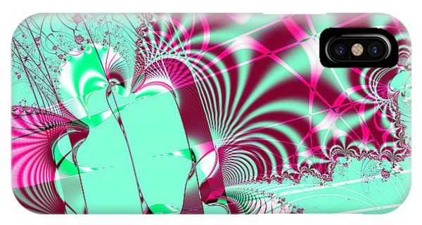 Julia Fractal iPhone X Case - Kabuki . Square by Wingsdomain Art and Photography