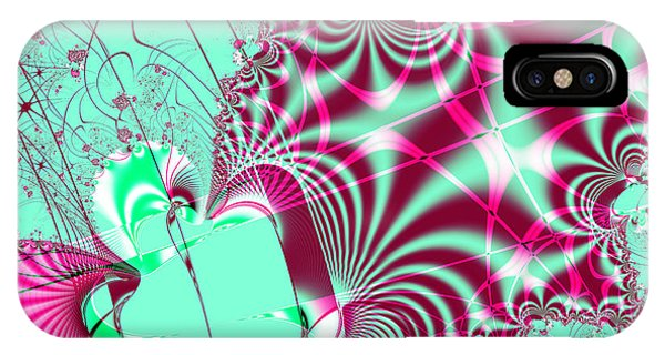 Julia Fractal iPhone X Case - Kabuki by Wingsdomain Art and Photography