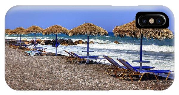Greece iPhone Case - Kamari - Santorini by Joana Kruse