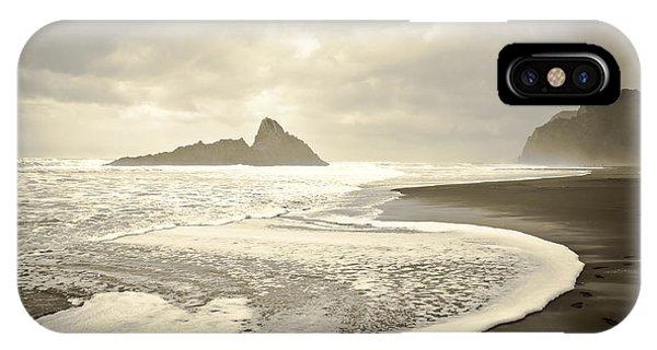 Karekare Beach In New Zealand IPhone Case