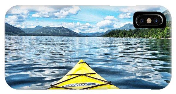 Kayaking In Bc IPhone Case