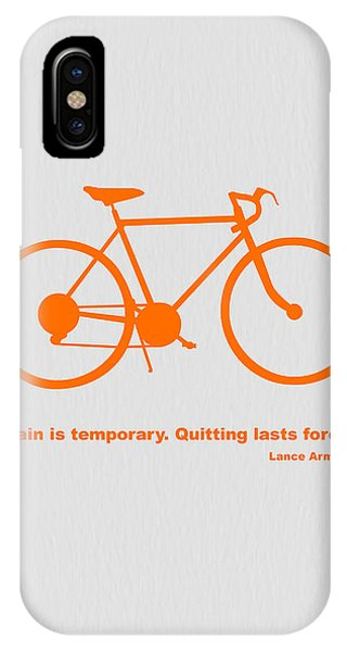 Biker iPhone Case - Keep The Wheels Turning 2 by Naxart Studio