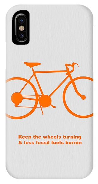 Bike iPhone Case - Keep The Wheels Turning by Naxart Studio