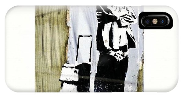 School iPhone Case - Keeping It Old School#banksy #stencil by A Rey