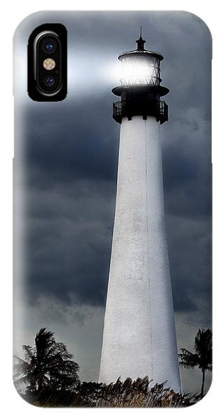 Navigation iPhone Case - Key Biscayne Lighthouse by Rudy Umans