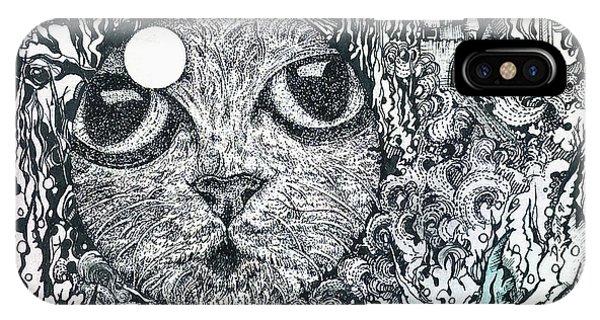 Cat In A Fish Bowl IPhone Case