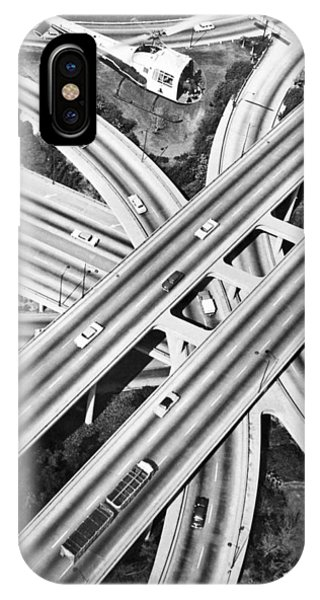Commute iPhone Case - La Freeway Interchange by Underwood Archives