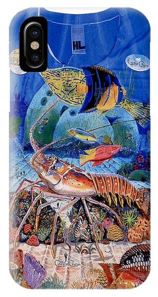 Reef iPhone Case - Ladies Lobster Reef Shirt by Carey Chen