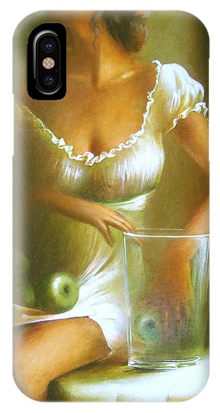 Lady With Green Apples IPhone Case