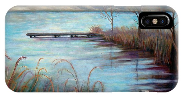 Lake Acworth Dock IPhone Case