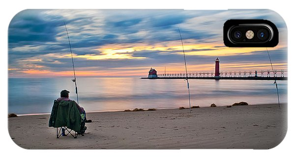 Lake Michigan Fishing IPhone Case