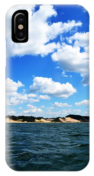 Lake Michigan Shore With Clouds IPhone Case