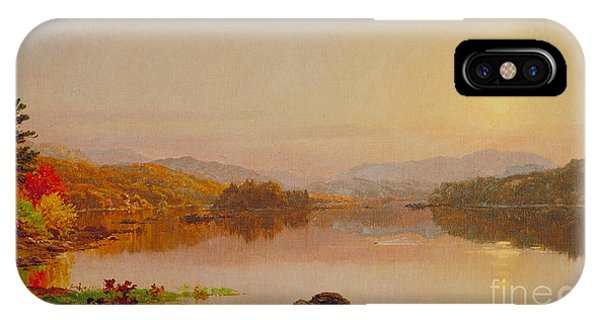 Jervis iPhone Case - Lake Wawayanda by Jasper Francis Cropsey