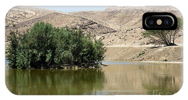 Lake Yeruham 04 IPhone Case