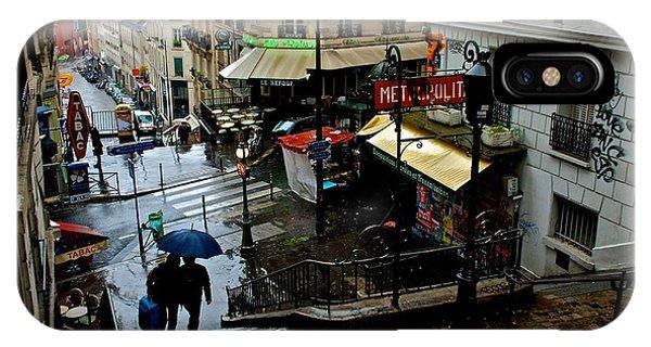 Lamarck-caulaincourt Metro Stop IPhone Case