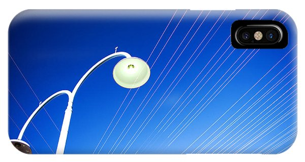 IPhone Case featuring the photograph Lamp Post And Cables by Yew Kwang