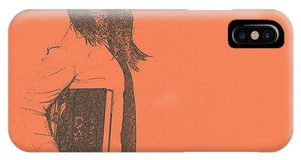 School iPhone Case - Lana by Naxart Studio