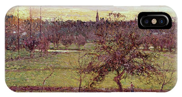 Plowing iPhone Case - Landscape At Eragny by Camille Pissarro