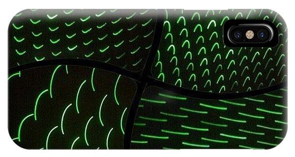 #laser #light #lightart #art #disco IPhone Case