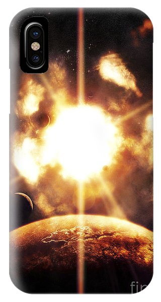 Beam iPhone Case - Last Moment On Earth As Our Sun by Tomasz Dabrowski