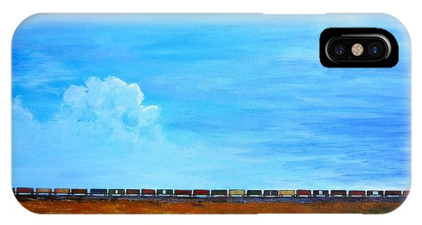 Late Afternoon Freight Train IPhone Case