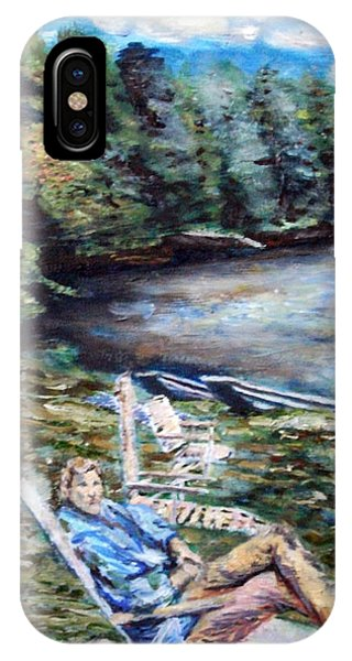 Lazy Day On The Mill Pond Phone Case by Denny Morreale