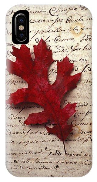Leaf iPhone Case - Leaf On Letter by Garry Gay