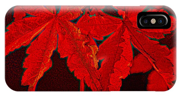 Leaves Of Red IPhone Case