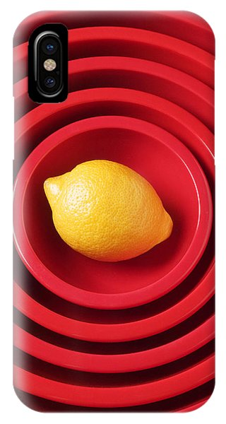 Lemon In Red Bowls IPhone Case