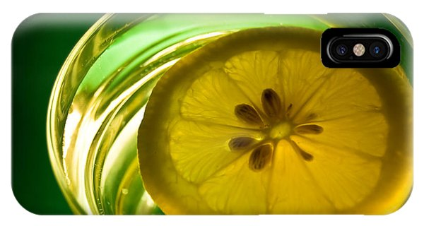 Lemon In The Glass Of Water IPhone Case