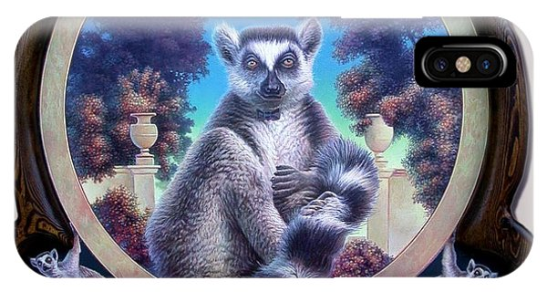 Zoofari Poster The Lemur IPhone Case