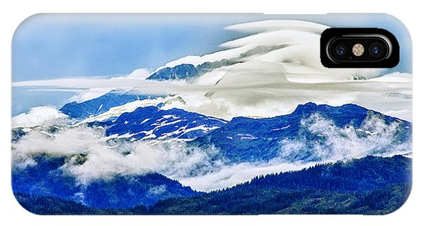 Glacier Bay iPhone Case - Lenticular And The Chugach Mountains by Rick Berk