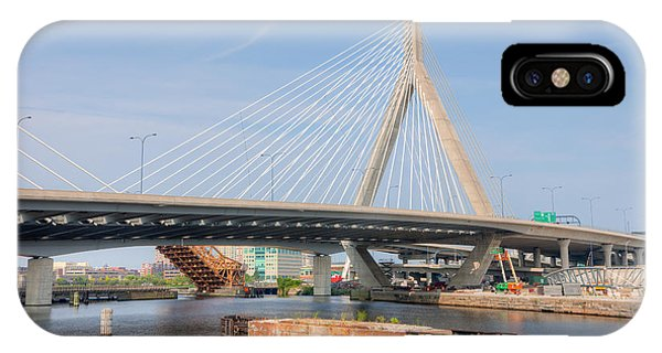 Zakim Bridge iPhone Case - Leonard P. Zakim Bunker Hill Bridge II by Clarence Holmes