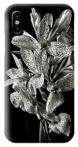 Leopard Lily In Black And White IPhone Case