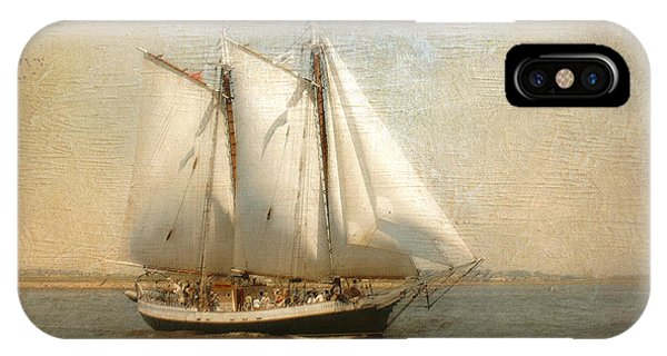Liberty Clipper On Boston Harbor IPhone Case