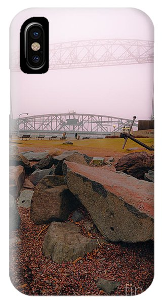 Lift Bridge In Spring Fog IPhone Case