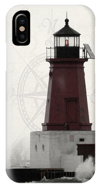 Lighthouse Compass IPhone Case
