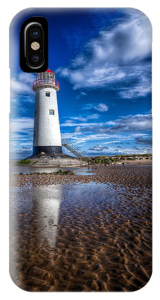 Navigation iPhone Case - Lighthouse Reflections by Adrian Evans