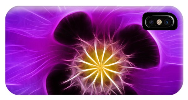 Lilac Poppy IPhone Case