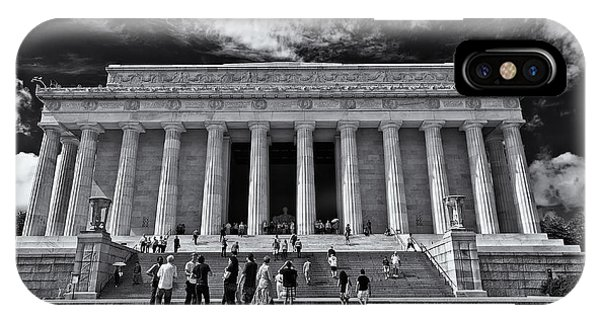 Lincoln Memorial In Black And White IPhone Case