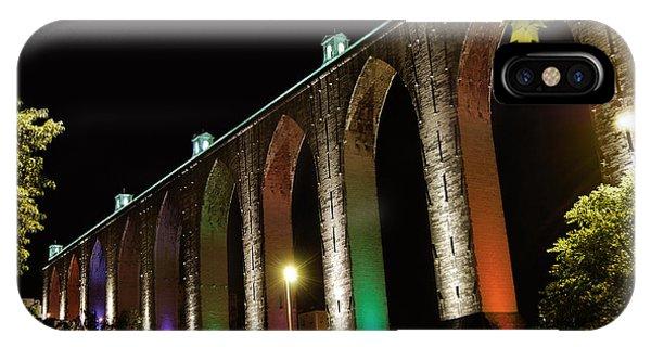 Lisbon Historic Aqueduct By Night IPhone Case