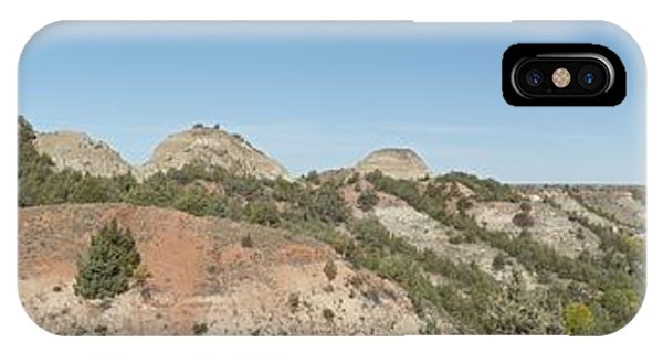 North Dakota Badlands iPhone Case - Little Badlands Missouri Panorama1 by Michael Peychich