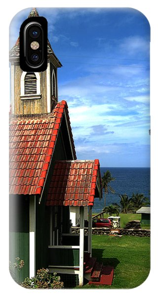 Little Green Church In Hawaii IPhone Case