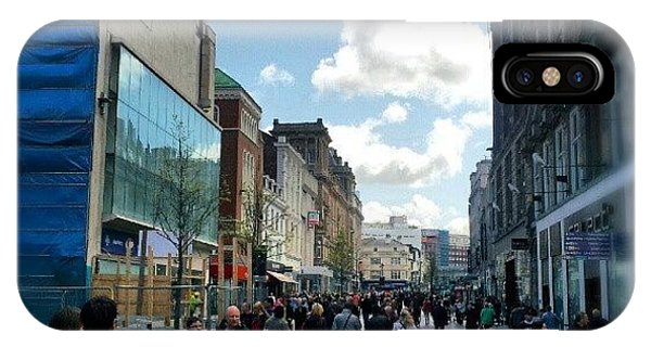 #liverpool #uk #england #street #market IPhone Case