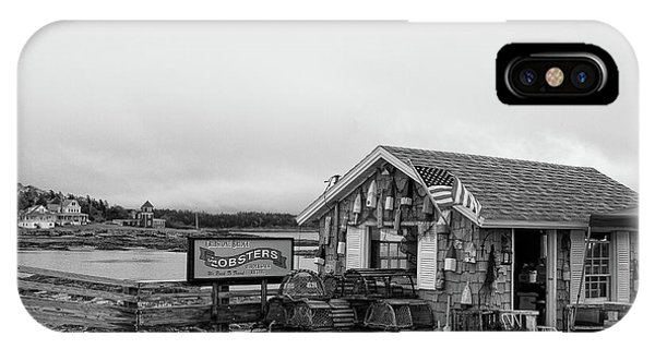 Lobster House Bw IPhone Case
