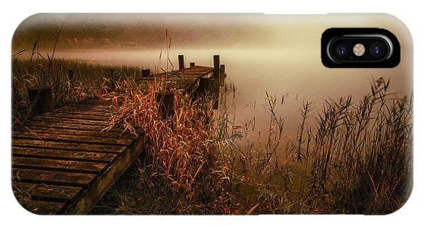 Loch Ard iPhone Case - Loch Ard Early Morning Mist by John Farnan