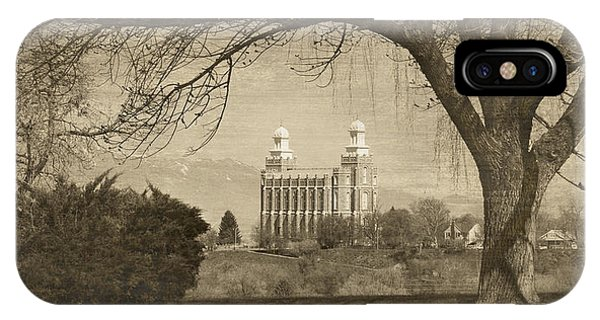 Logan Lds Temple IPhone Case