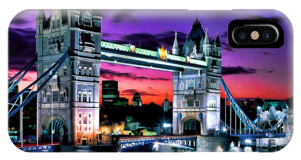 London Evening At Tower Bridge IPhone Case