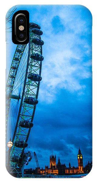 St. Patricks Day iPhone Case - London Eye At Westminster by Dawn OConnor